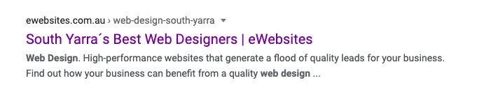 website design south yarra