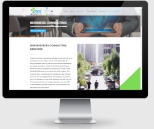 TKE consulting website design 1
