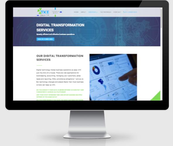 TKE consulting website design 2