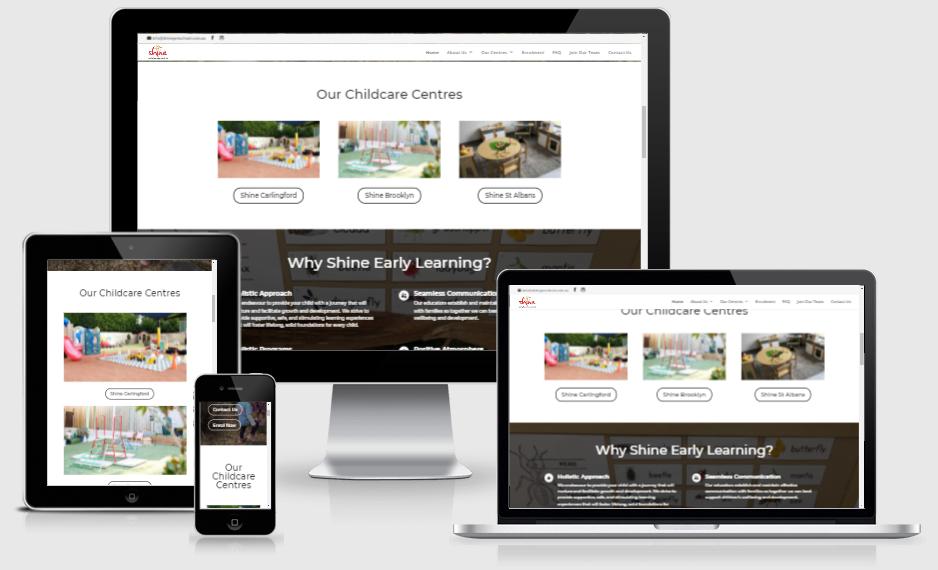 shine website redesign 1