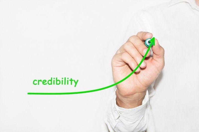image describing the credibility of a website